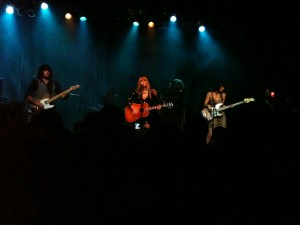 Grace Potter on acoustic guitar