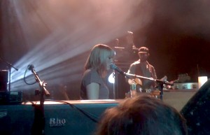 Grace Potter on piano at the TLA