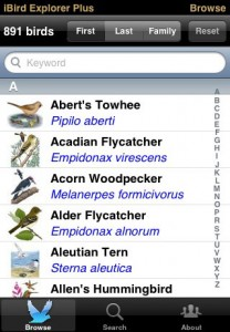iBird Explorer List Page
